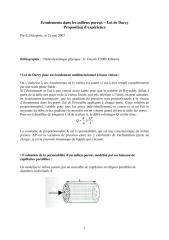 Ecoulements dans les milieux poreux  Loi de Darcy Proposition d'expérience.pdf