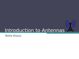 Introduction to Antennas.ppt
