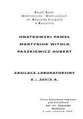 zasilacz laboratoryjny.doc